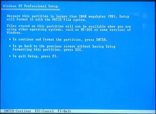 format disk windows xp
