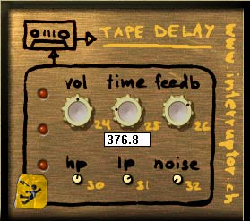 Interruptor TAPE DELAY - freeware VST tape delay emulation for Dub ...