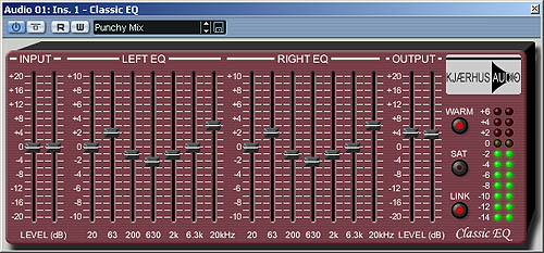 Kjaerhus Audio Classic Eq - Super free VST PC 7-band Graphic Eq plugin