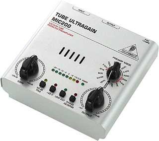 behringer tube ultragain mic100 manual