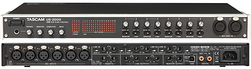 Tascam US-2000 - Tascam US-2000 USB Audio Interface - 16 in/4 out