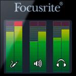 Focusrite Forte colour OLED metering