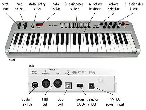 midi keyboards controllers connecting via usb without audio i o. Black Bedroom Furniture Sets. Home Design Ideas