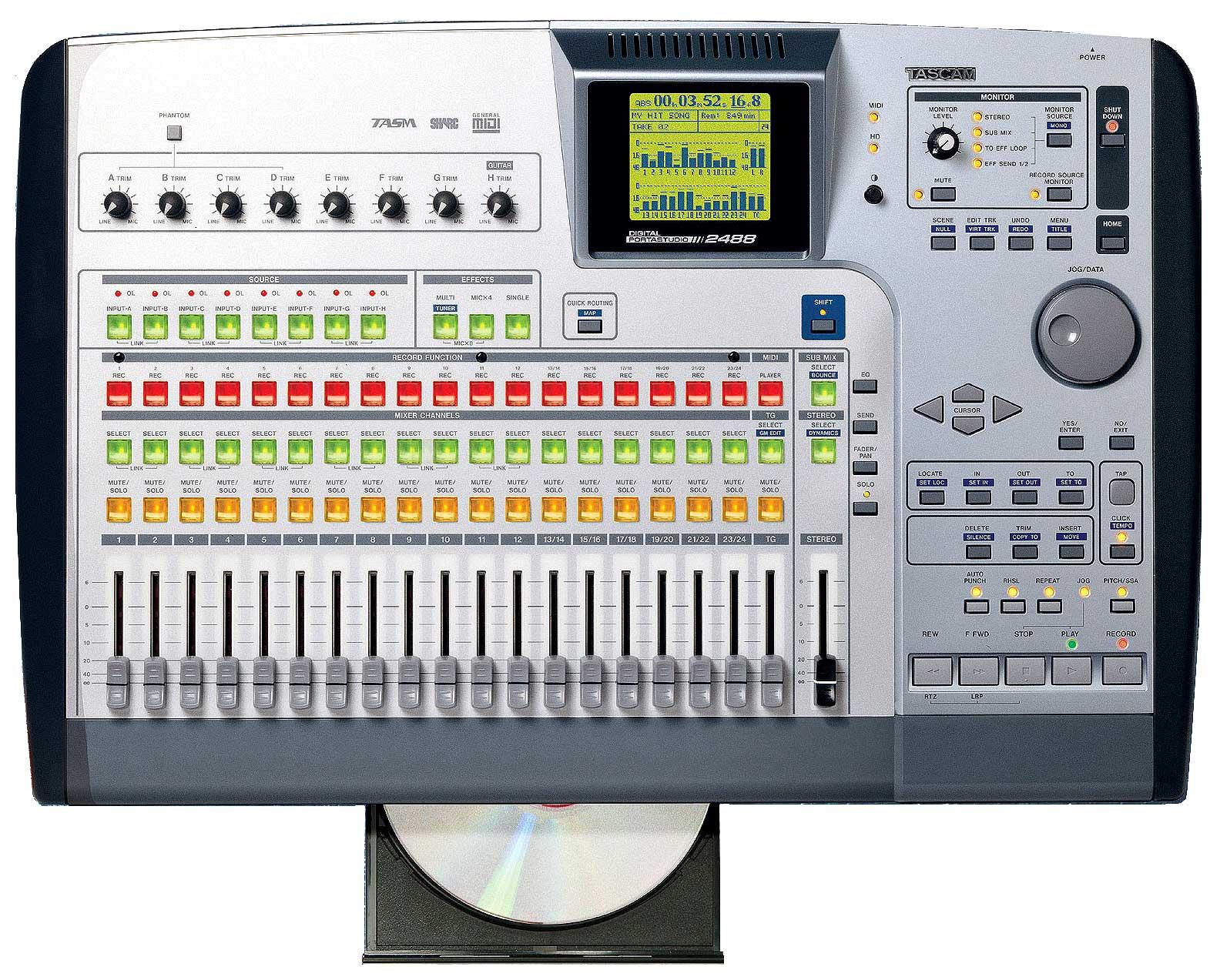 Tascam 2488neo digital portable studio 043774023752