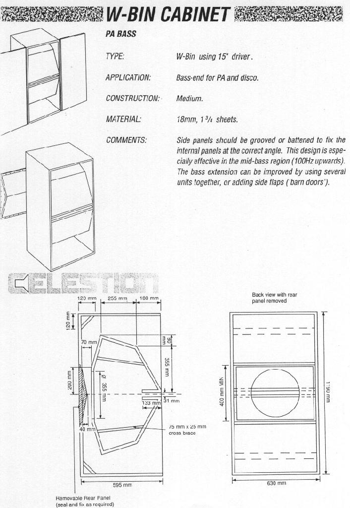 Bass Cabinet Design Plans Free Download Pdf Woodworking